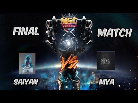 FINAL MATCH! | SAIYAN vs MYA MSC Malaysia Championship Mobile Legends