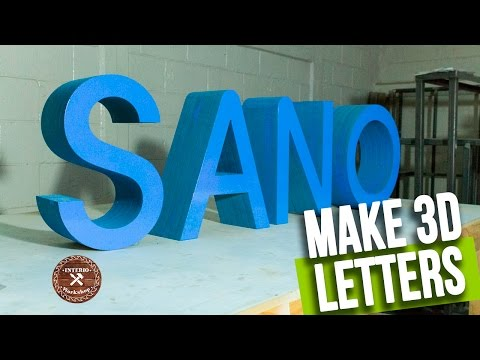 How to make 3d Letters - Build Wooden Letters - Interio Workshop