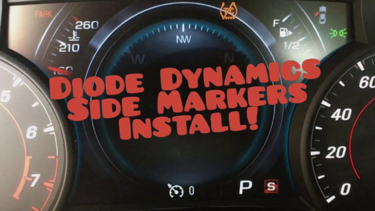 2016 2017 2018 Camaro Diode Dynamics Side Marker Lights Install