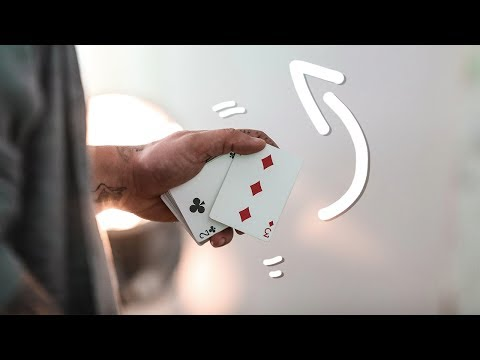 How To THROW A Playing Card BEHIND Your Back! - Beginner Tutorial