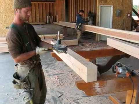 Caribou Creek Log Homes -- Timber Frame Shop -- Alaska Timber Fame ...
