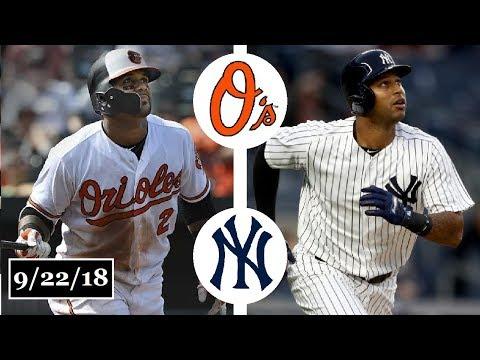 Baltimore Orioles vs New York Yankees Highlights || September 22, 2018