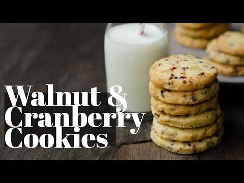Cranberries and Walnut Cookies
