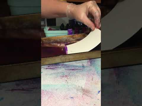 Alcohol ink marbling