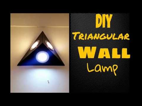 Triangular Wall Lamp .Easy To Make Complete Diy Turitorial