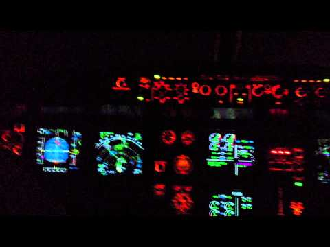 "A319 Night Take Off at Frankfurt ""As Real As I Can"""