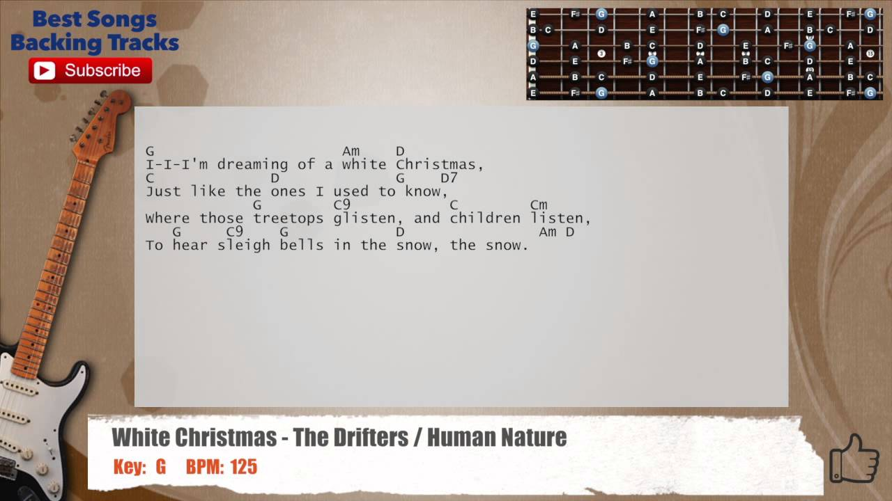 White Christmas The Drifters Human Nature Guitar Backing Track