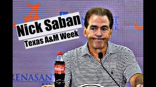 Alabama Crimson Tide Football: Nick Saban comments before game with Texas A&M