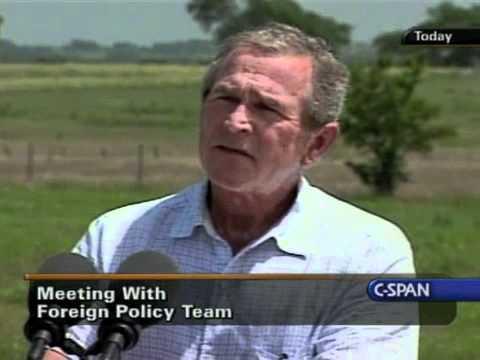 George W. Bush Takes A Question On Cindy Sheehan - 8/11/2005