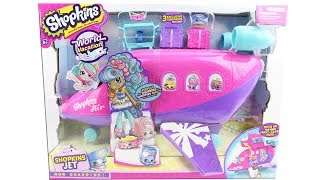 Shopkins World Vacation Season 8 Jet Playset Unboxing Toy Review