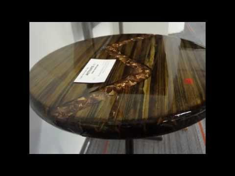 Reclaimed Lumber, Copper, and Steel Side table