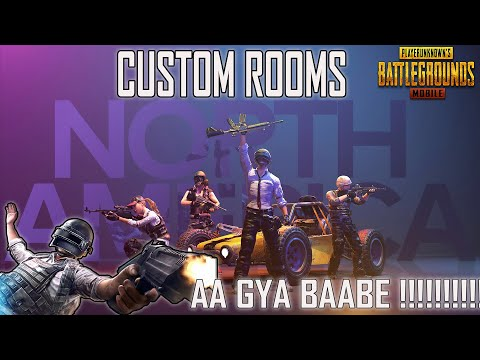 AA GYA BAABE !! KIDA FER READY NORTH AMERICA ALLEYO IN PUBG MOBILE CUSTOM ROOMS