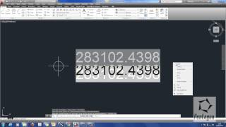 Creating Easting and Northing Coordinates in AutoCAD