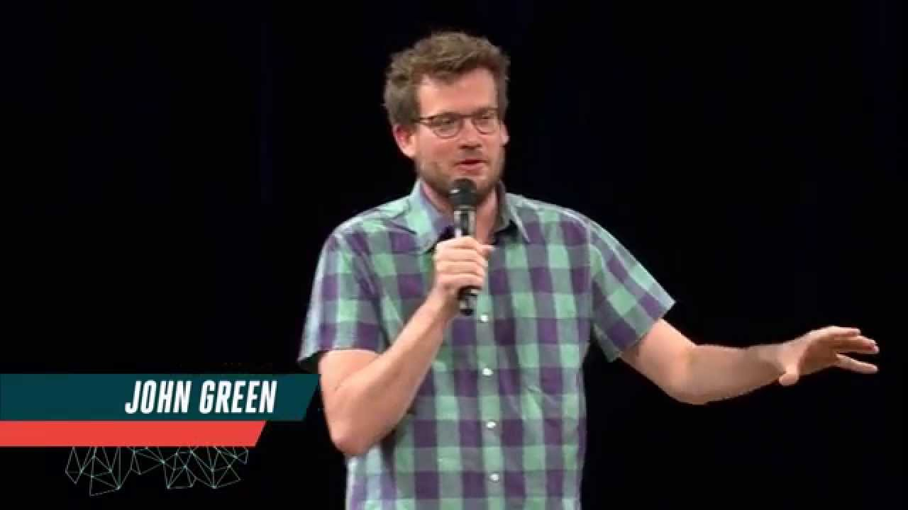 john greens speech John green is a force to be reckoned with whether it's through his popular youtube series vlogbrothers with his brother hank green or one of his many wildly.