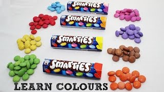 Learn Colours with Nestlé Smarties Unboxing - Learn at Home - My Little Bunny