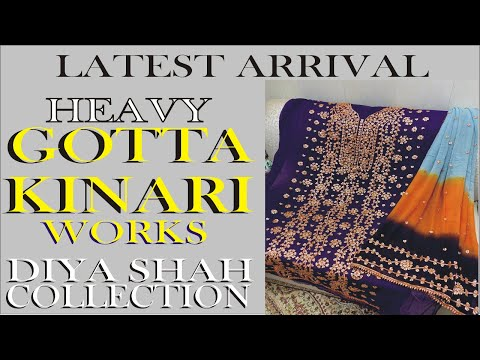 Diya Shah Brings latest   Heavy Gotta kinNaari work   Bridle Suits   Formal and Simple sequence suit