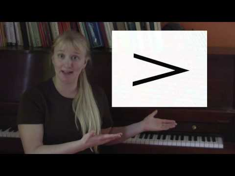 AllMissMusic defines Accent sign