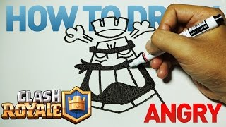 How to Draw a Cartoon - Clash Royale Angry Emoticon (Tutorial Step by Step)