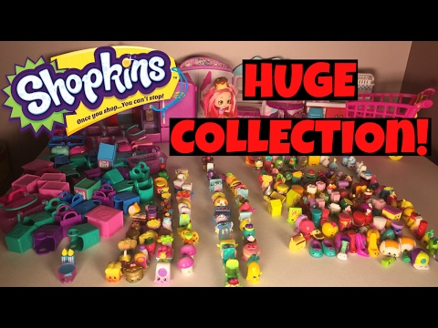 ALL Shopkins HUGE 200+ Collection Season 7 6 5 4 3 2 1, ULTRA RARE/EXCLUSIVE + Playsets!