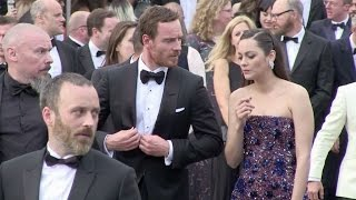 Marion Cotillard and Michael Fassbender on their way to the Red Carpet of Macbeth in Cannes