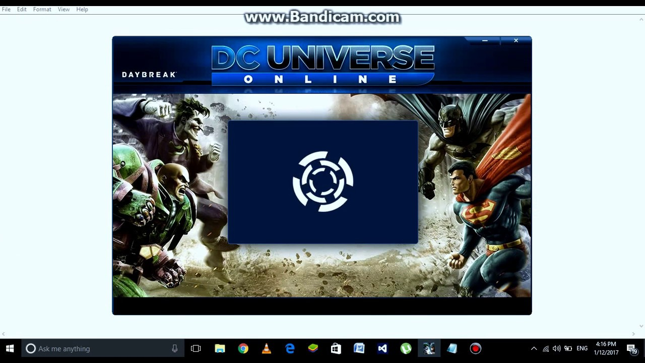 Dc universe stuck on validating with login server