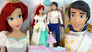 The little Mermaid: Ariel And Eric Wedding Doll Set Review (Disney Store)