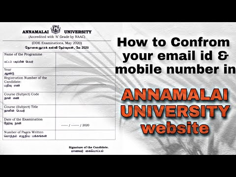 How To Check Email Id In Annamalai University Website   Distance Education   Exam Details