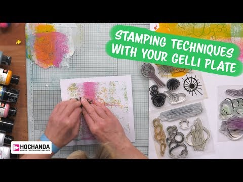 Stamping With Your Gelli Plate By Leonie Pujol At Hochanda - The Home Of Crafts, Hobbies And Arts