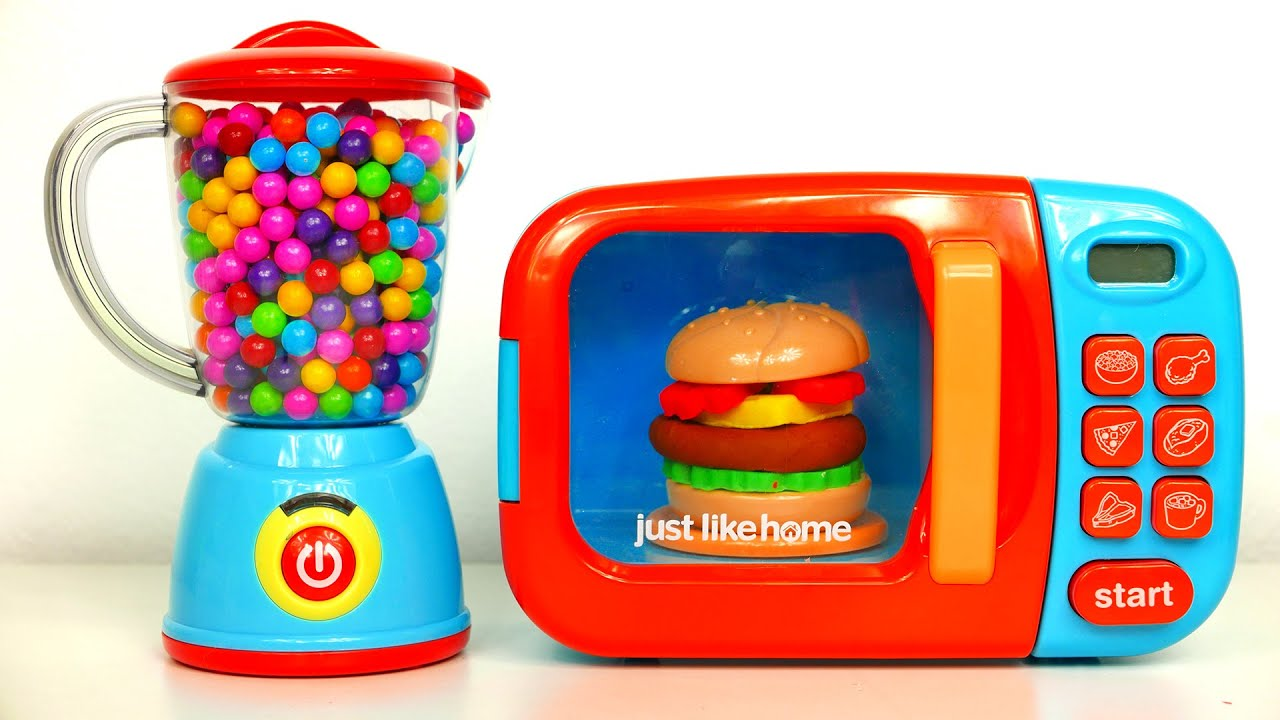 Just Like Home Toy Blender : Microwave oven and blender just like home playset kitch