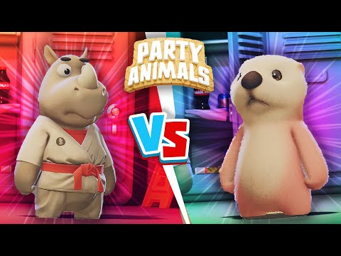 Gang Beasts But With CUTE Animals! -  Husband vs Wife