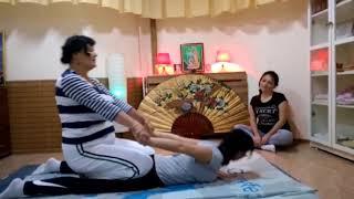 Фрагмент тренинга по тайскому массажу Светлана Линкер