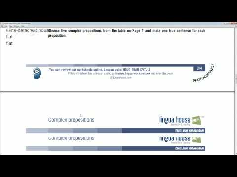 Complex prepositions