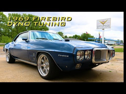 Dyno Carb Tuning a 455 powered 1969 Pontiac Firebird with Oxygen sensor at V8 Speed & Resto Shop