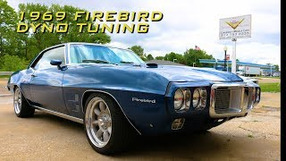 Dyno Carb Tuning a 455 powered 1969 Pontiac Firebird with Oxygen sensor at V8 Speed & Resto Shop