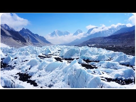 Drone Follows Expedition Over Himalaya Everest
