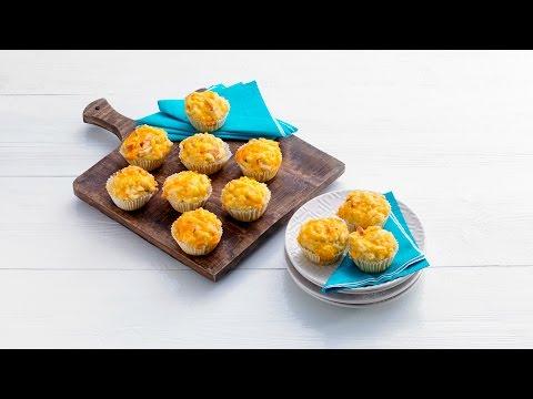 Mac 'n cheesemuffins met bloemkool & kip – Allerhande