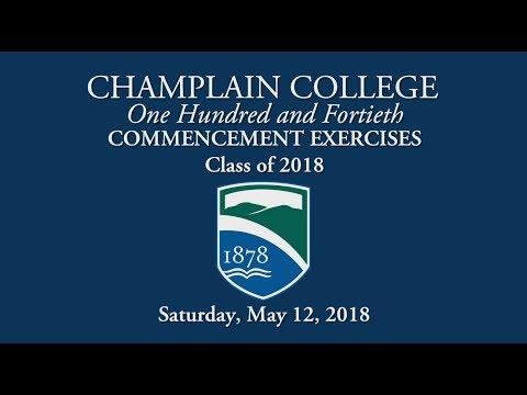 Champlain College Graduate Commencement Exercises 2018