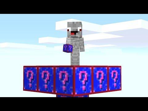 Ich baue eine Skybase aus Shade Lucky Blocks also Alphastein