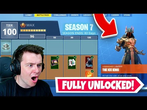 *NEW* SEASON 7 Battle Pass 100% Unlocked (Tier 100) In Fortnite!
