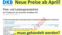 DKB: Neues Preisverzeichnis! Muss gehandelt werden?
