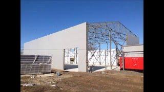Строительство утепленного ангара 540 м кв. (сэндвич панели)(Строительство утепленного ангара из сэндвич панелей общей площадью 540 м кв. (18х30х7) в Ейском районе , Краснод..., 2016-01-13T08:39:19.000Z)