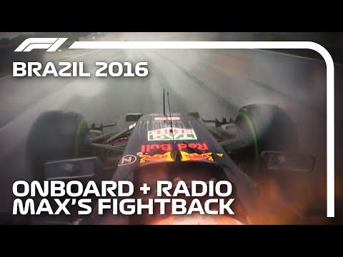 Verstappen's Fightback: Onboard + Team Radio Unedited | 2016 Brazilian Grand Prix