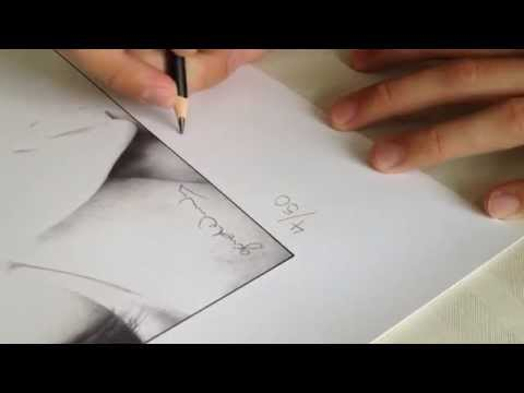 Signing your Limited Edition Prints by Gareth Edwards