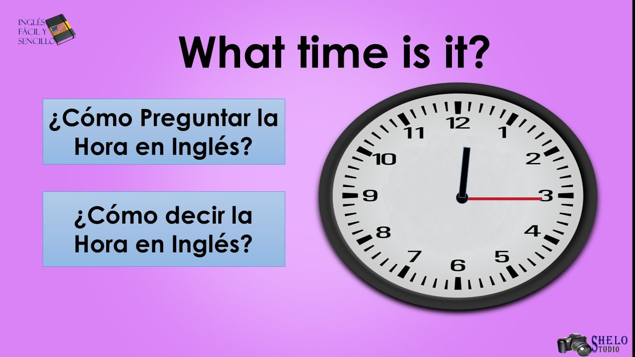 Cómo Preguntar y Responder la Hora en Inglés - YouTube