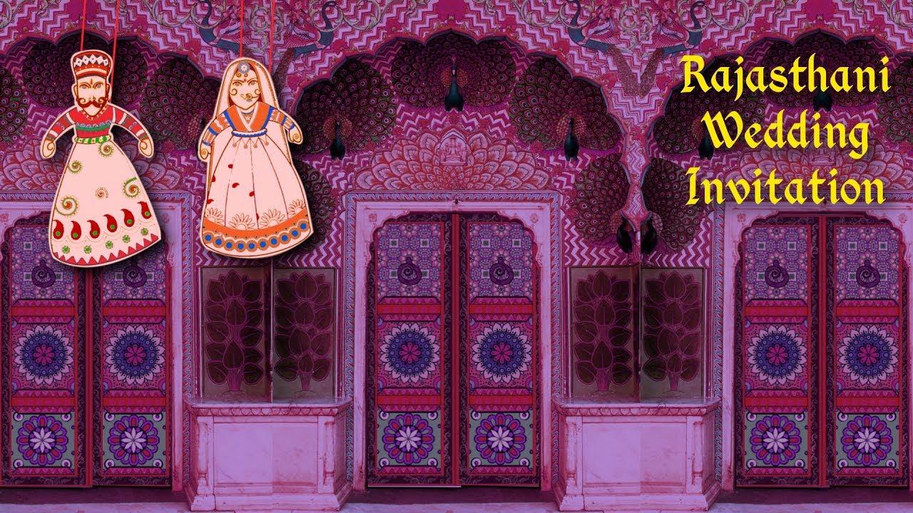 Wedding Invitation Video | Rajasthani Marwari Style Wedding ...