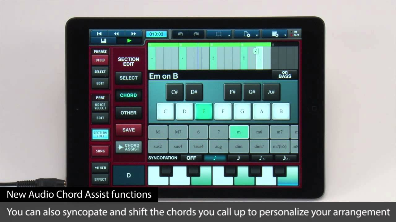 yamaha mobile music sequencer - v3.0: overview - iphone, ipod