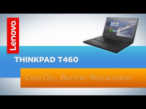 ThinkPad T460 Notebook - Coin Cell Battery Replacement - YouTube