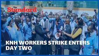 KNH workers strike enters second day as stalemate with SRC continues