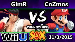 S@X 122 - VGBC | GimR (Ryu) Vs. G5 CoZmos (Mario) SSB4 Tournament - Smash Wii u - Smash 4