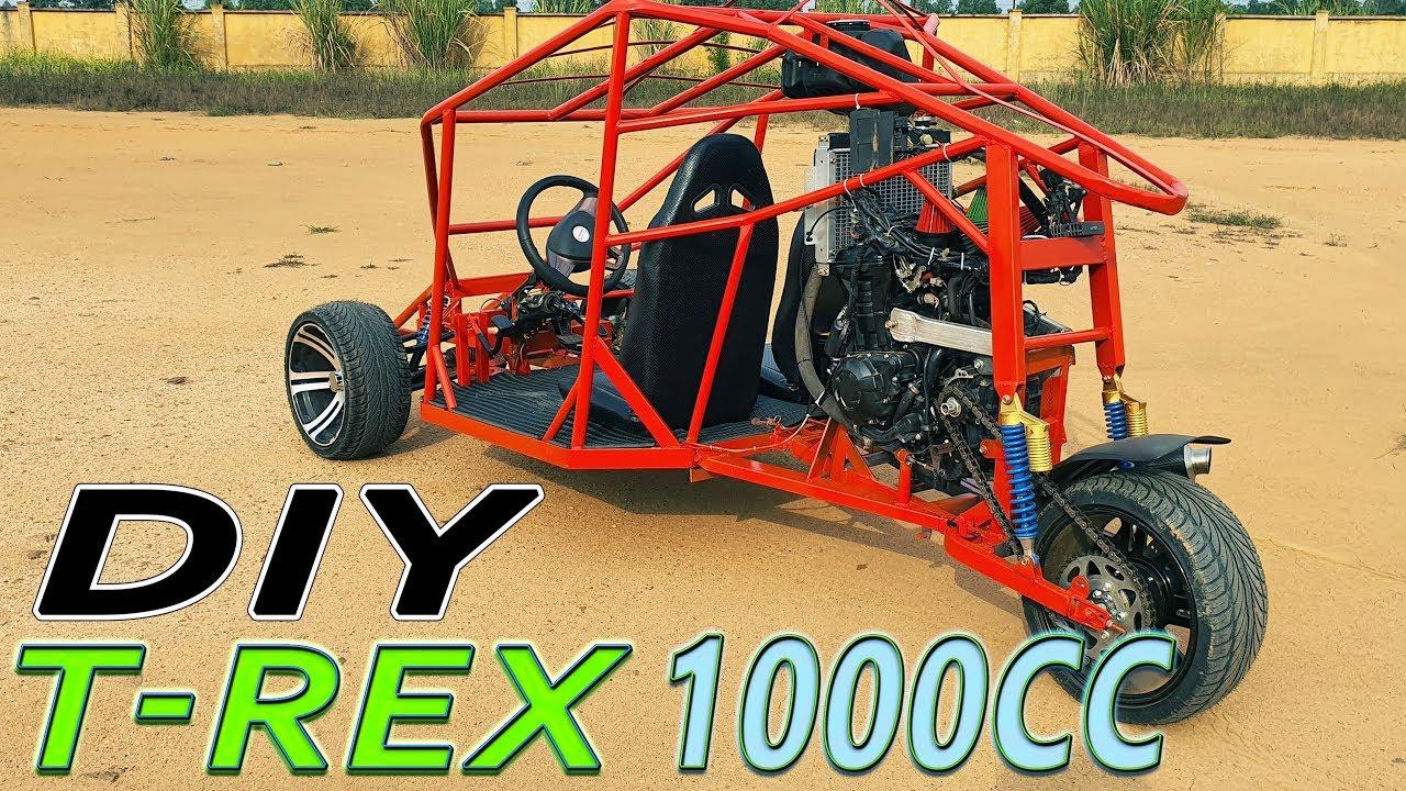 Build a T-REX Three Wheeled Motorcycle 1000cc